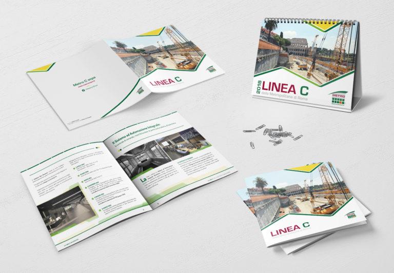 Mockup_libro fotografico e calendario realizzati per Metro C
