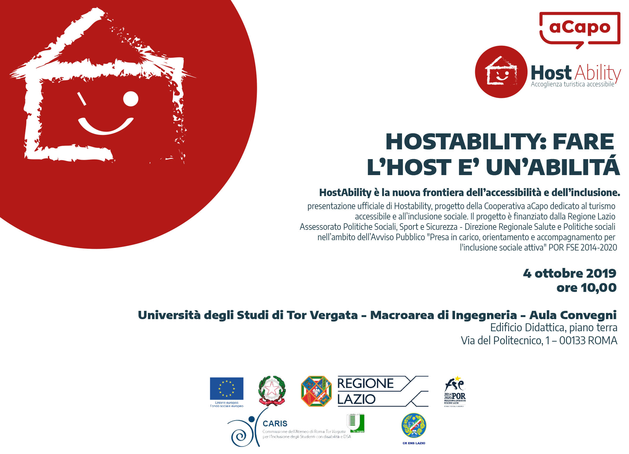 HostAbility Invito all'evento di presentazione