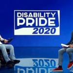 Immagine del Disability Pride 2020 in diretta su RaiPlay, con i conduttori Carmelo Comisi e Guido Barlozzetti