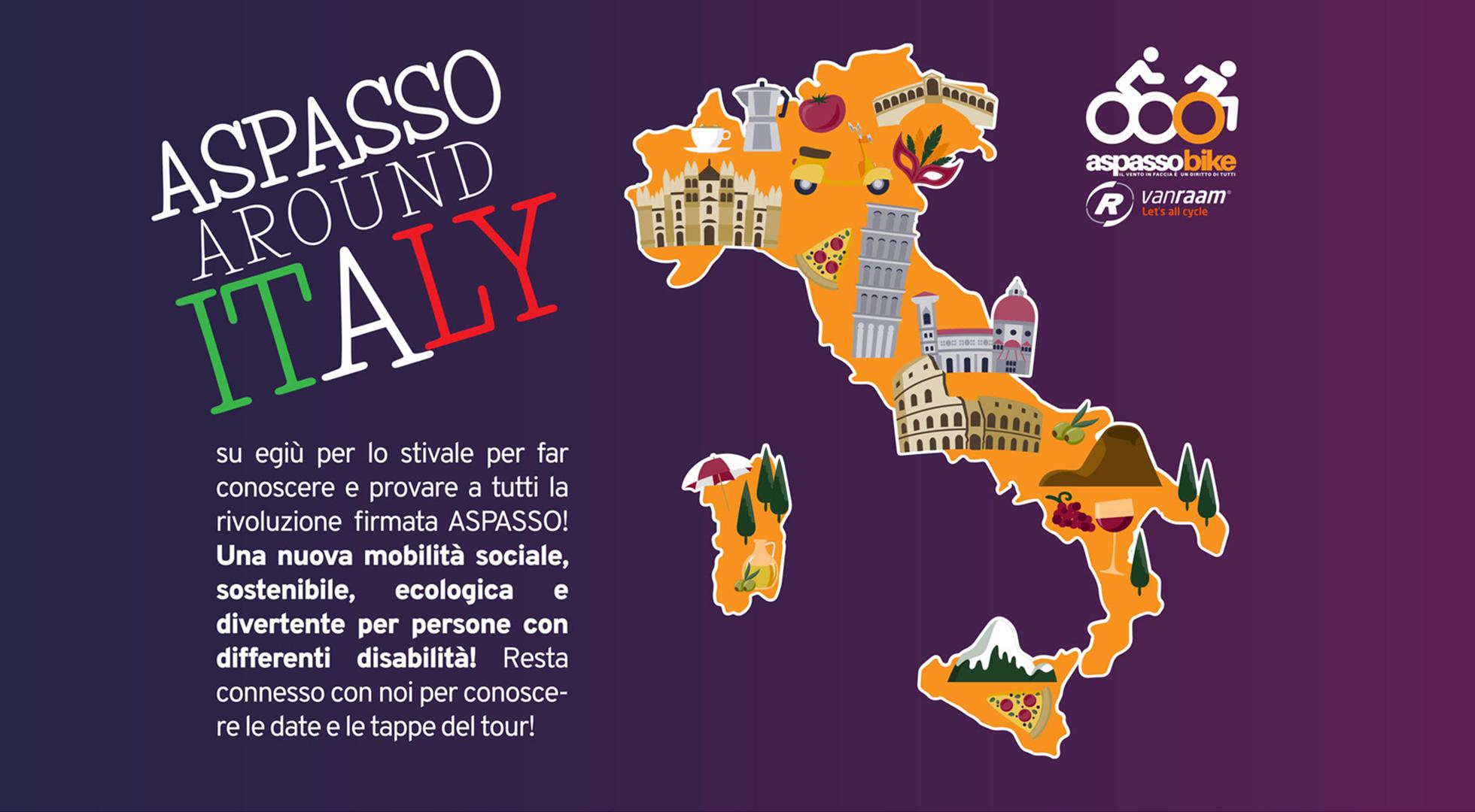 Aspasso Around Italy: immagine promozionale del tour