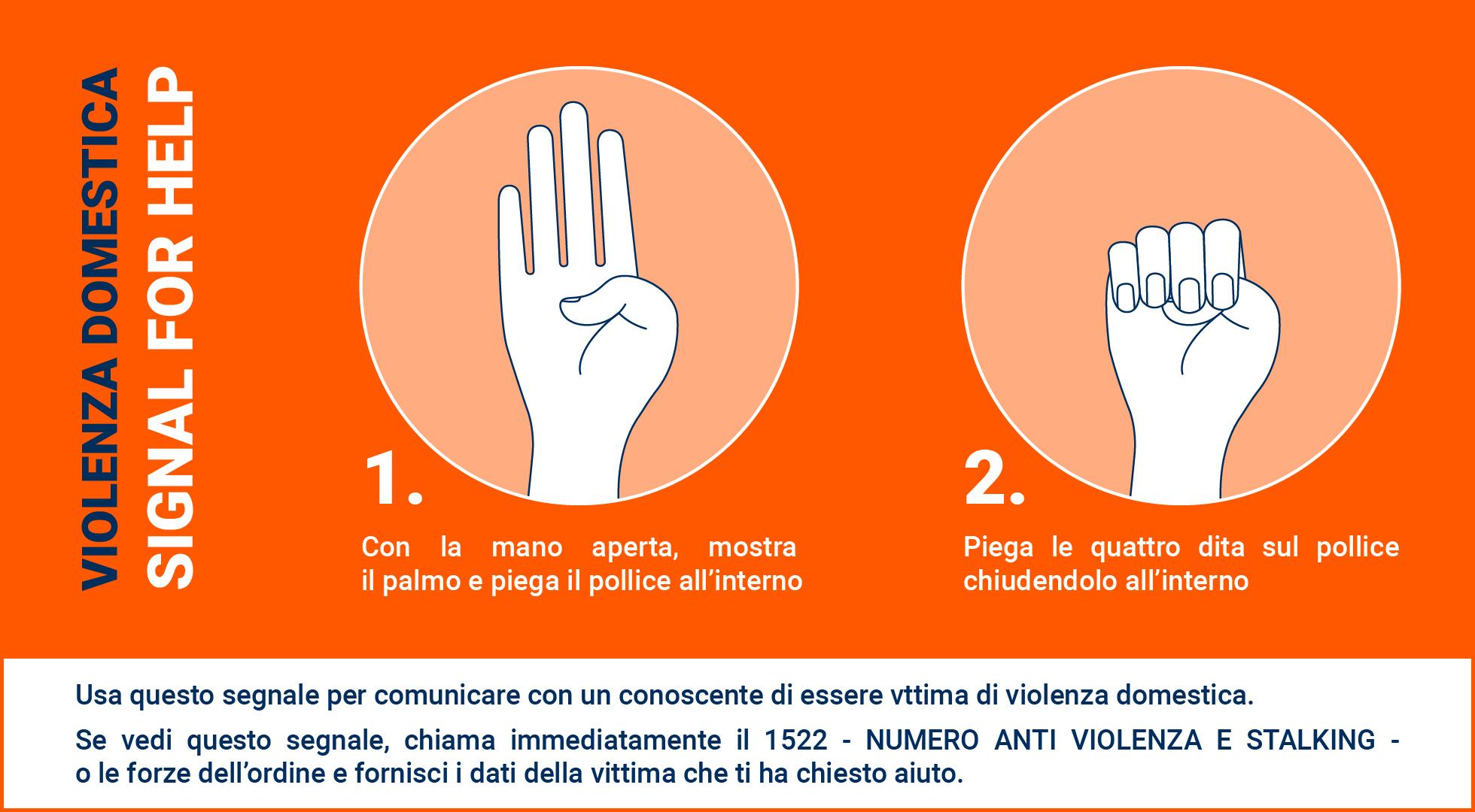 Signal for help, il gesto per segnalare una violenza domestica